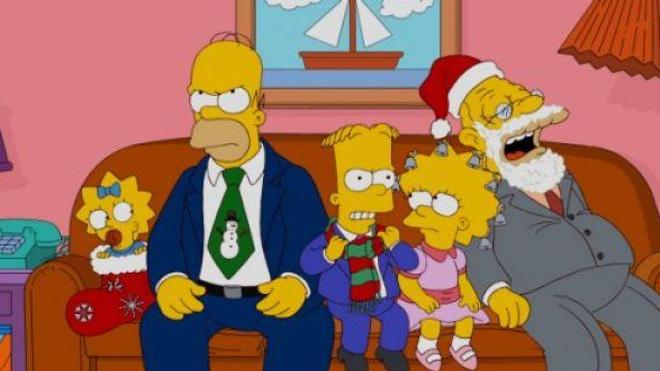 Joyeux Noël, joyeux Noël… C'est vite dit ! (extrait d'un épisode spécial Noël de la série animée ''Les Simpson'' © Matt Groening)