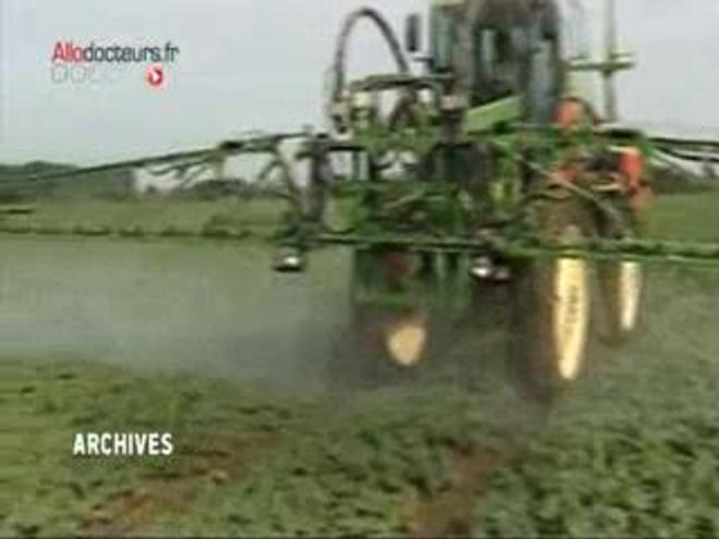 Pulvérisation de DDT dans un champ de pommes de terre en 1955 en Allemagne, près de Leipzig. (Crédits : Krueger - Bundesarchiv, Bild 183-20820-0001 / CC-BY-SA)