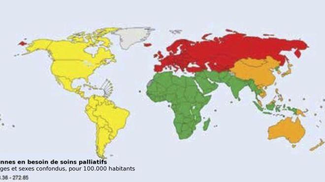 Neuf personnes sur dix n'ont pas accès aux soins palliatifs dans le monde (source : OMS)