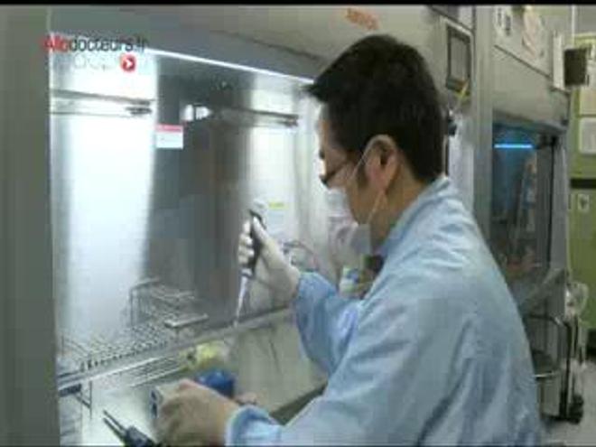 ♪ ♫ Une souris verte ♪ ♫ au stade embryonnaire ♪ ♫ injectez-lui des cellules plongées dans l'acide ♪ ♫ et montrez-là à ces messieurs...