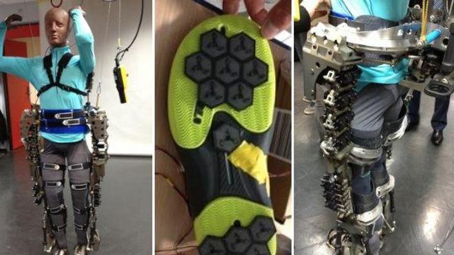 Un exosquelette pour donner le coup d'envoi du Mondial de football 2014  ! (Crédits photos : Miguel Nicolelis)