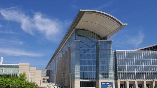 Le centre des congrès McCormick, au deuxième jour du congrès de l'ASCO. (photographie : F. Gouthière)