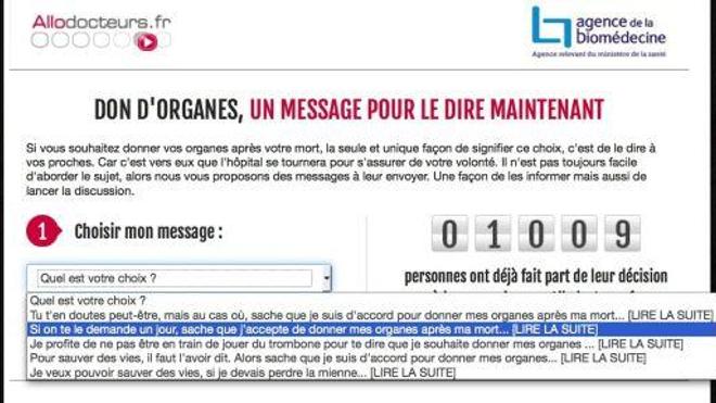 Dons d'organes : Allodocteurs.fr et l'Agence de la biomédecine se mobilisent