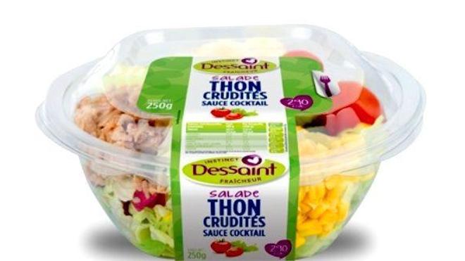 Retrait de salades de la marque Dessaint pour cause de listeria