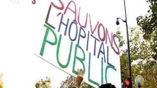 Les hospitaliers manifestent contre l'austérité