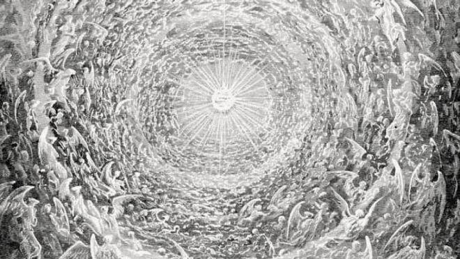 Détail du ''Paradis de Dante Alighieri'', de Gustave Doré