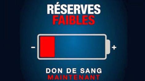 Don du sang : l'EFS alerte sur ses réserves très faibles