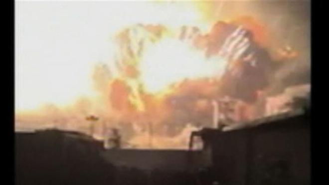 Image amateur de l'explosion du 12 août 2015