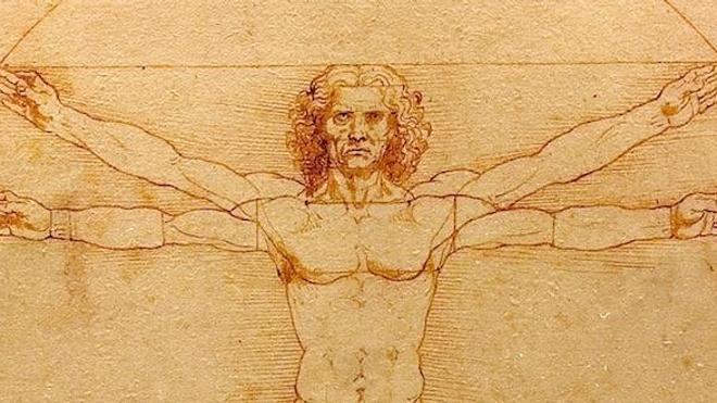 """""""Je n'ai pas quatre bras !"""" Au-delà de 500 millisecondes, le cerveau peine à traiter simultanément deux tâches distinctes - Détail de """"Etude des proportions du corps humain selon Vitruve, réalisé par Léonard de Vinci aux alentours de 1492."""