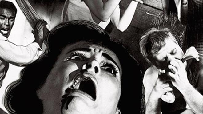 """Détail de l'affiche du film """"La nuit des morts-vivants"""" de George Romero (1968)"""