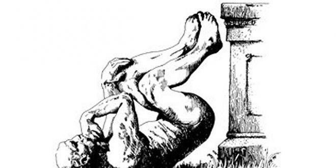 Un penseur de Rodin tombé de son piédestal, la mascotte des IgNobel.