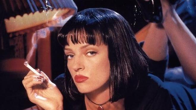 """Détail de l'affiche du film """"Pulp fiction"""" de Quentin Tarantino (1994)"""