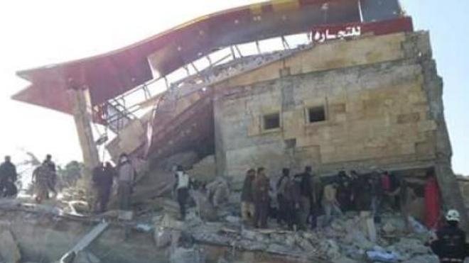 L'hôpital bombardé à Hadiyé. Source/crédits : MSF.