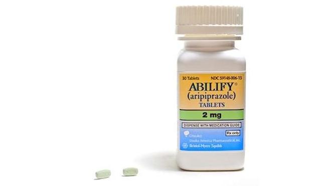 Flacon d'aripiprazole tel que commercialisé aux Etats-Unis (cc Eric Gingras).