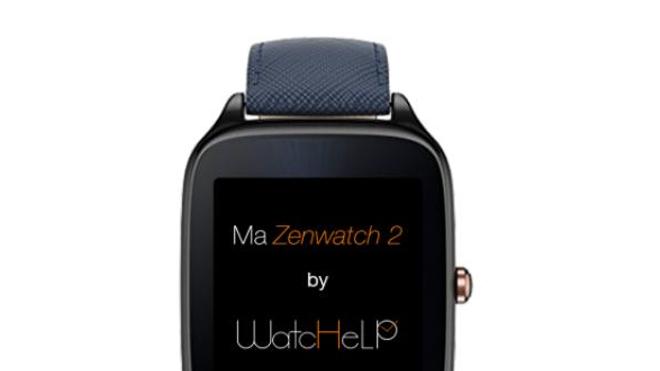 Montre connectée avec l'application ©Whatchhelp