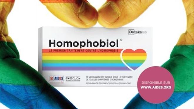 Extrait du visuel de la campagne Homophobiol©