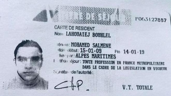Le titre de séjour de Mohamed Lahouaiej Bouhlel (Sipa)