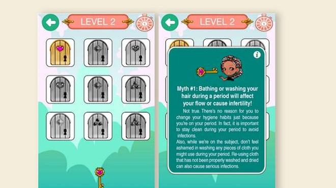 Jouer pour briser le tabou des règles (capture d'écran)