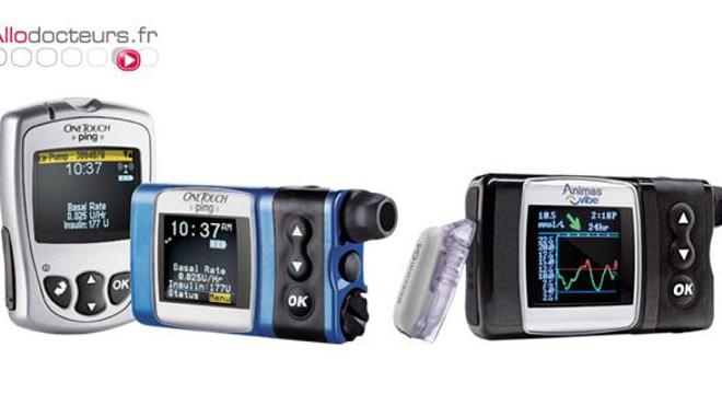 Pompes à insulines Animas®, présentées sur le site du fabricant. (DR)
