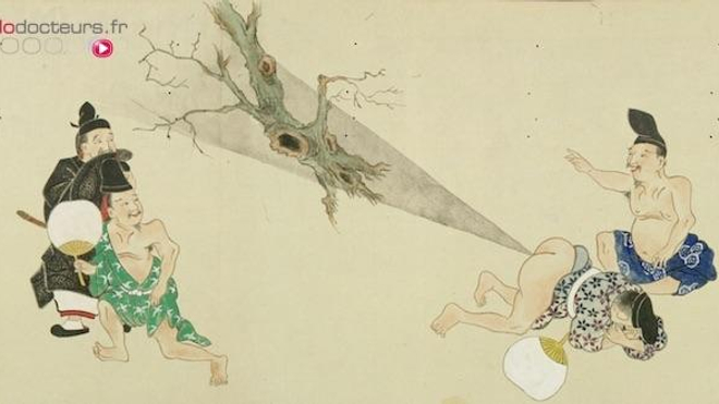 Extrait du célèbre rouleau He-gassen (屁合戦), œuvre japonaise présentant quelques flatulences hors normes...