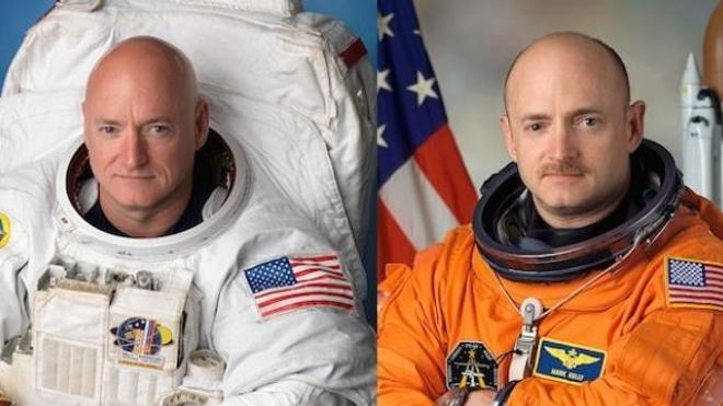À gauche, Scott Kelly. À droite, son frère Mark.