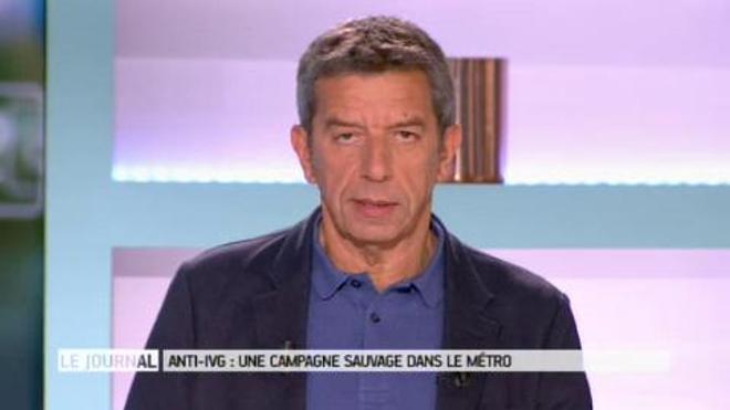 Des affiches sauvages anti-IVG dans le métro parisien (capture d'écran Twitter Laurent Delmas) - Vidéo : entretien avec Véronique Séhier, co-présidente du planning familial