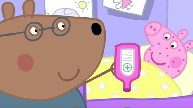 """Un extrait de l'épisode """"Pas très bien"""" de la série Peppa Pig (DR)"""