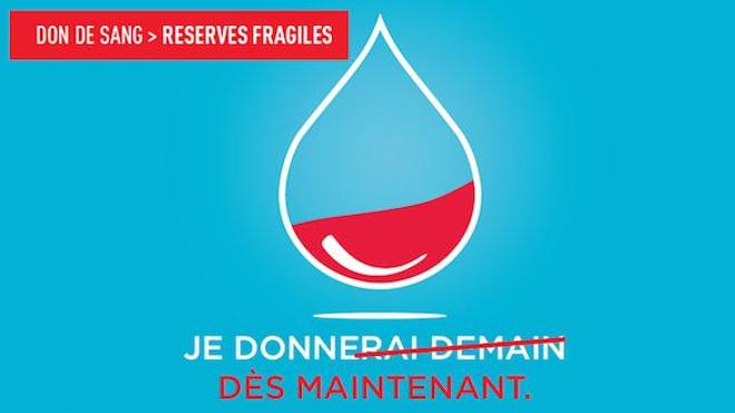 """""""Je donne dès maintenant"""", campagne de sensibilisation de l'EFS à l'hiver 2017-2018."""
