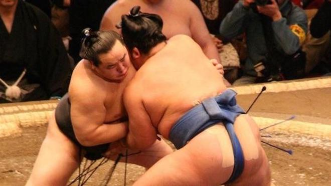 Un combat de sumo (image d'illustration). cc-by-sa Arcimboldo