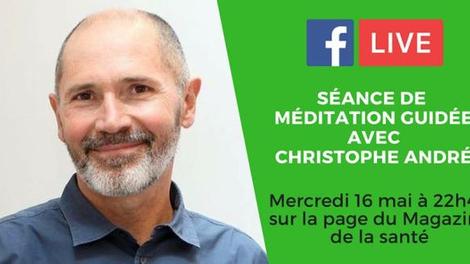 Ce soir, méditez en direct avec Christophe André!