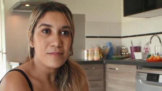 """Hella Kherief, lors de son apparition dans """"Envoyé spécial"""" (crédits : France Info / France Télévisions)"""