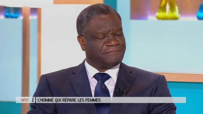 Le Dr Denis Mukwege sur le plateau du Magazine de la Santé en 2016