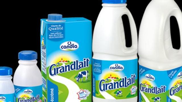 Rappel de plusieurs lots de lait Candia