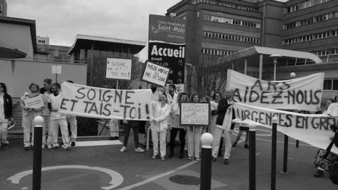 Les urgences de Saint-Malo à bout de souffle sont en grève depuis plus d'un mois