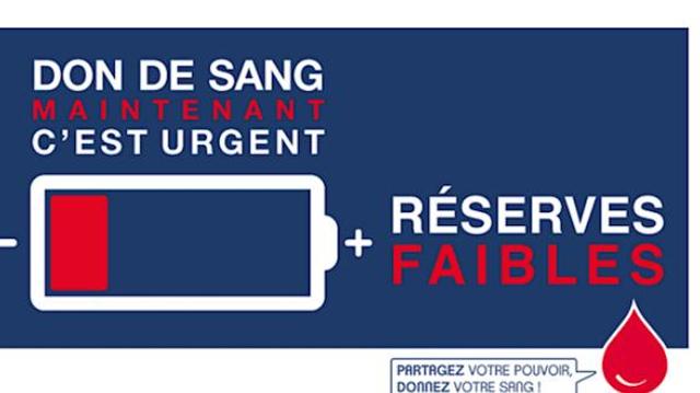Don de sang : c'est urgent !