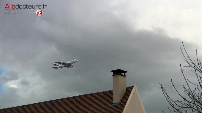 Le bruit des avions affecte la santé des riverains