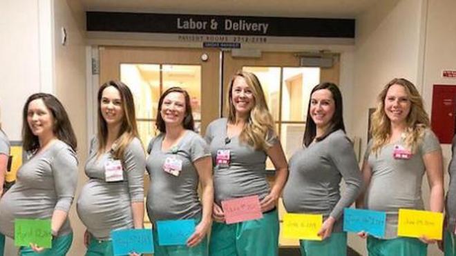 E.U : neuf infirmières enceintes dans le même service