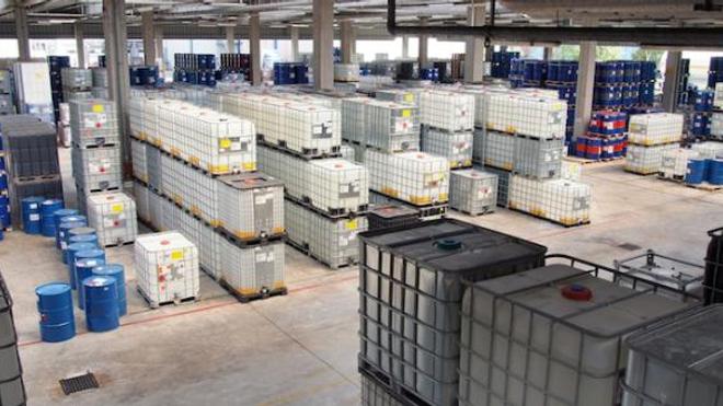 Stockage de produits chimiques - Photo d'illustration.