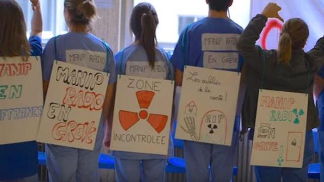 """Manipulateurs radio en grève : """"nous voulons être considérés comme des soignants"""""""