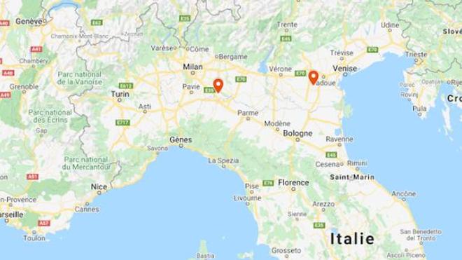 Les villes de Codogno (Lombardie) et de Vo'Euganeo (Vénétie) sont au cœur des deux principaux foyers d'infection du coronavirus au Nord de l'Italie.