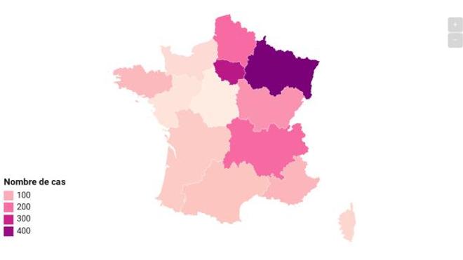 CARTE - Coronavirus : près de 1.800 cas et 33 morts en France