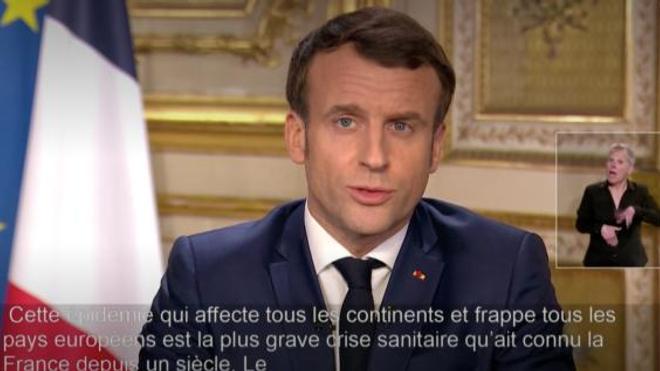 """""""Cette épidémie est la plus grave crise sanitaire qu'ait connue la France depuis un siècle"""", Emmanuel Macron"""
