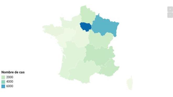25 233 ont été recensés par Santé Publique France depuis le début de l'épidémie.