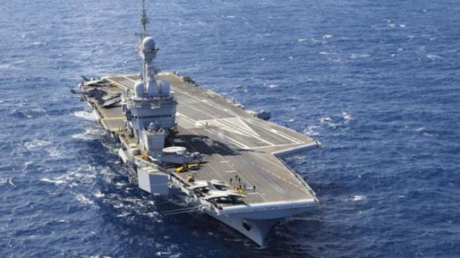 Image d'illustration. Le porte-avions Charles de Gaulle au large de Chypre en mars 2019.