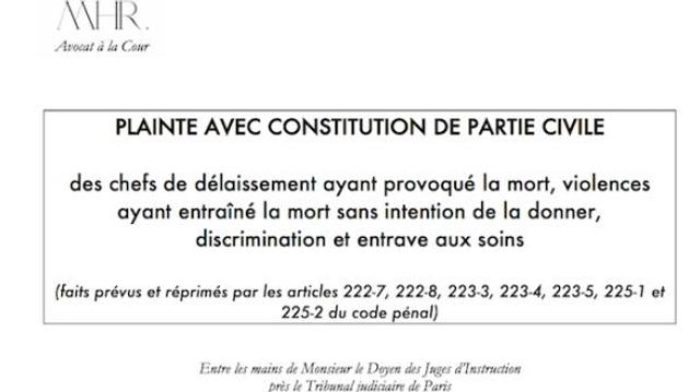 Covid-19 : une plainte criminelle pour «délaissement» de personnes vulnérables