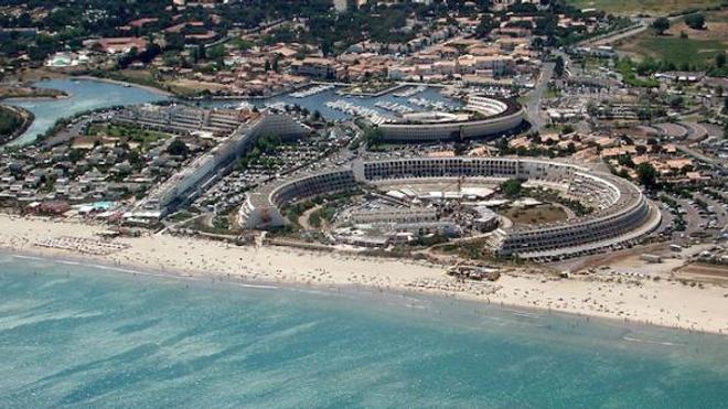 Image d'illustration. Vue aérienne du village naturiste du Cap d'Agde, Hérault.
