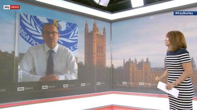 Le directeur régional de l'OMS pour l'Europe était interrogé par SkyNews ce 1er septembre.