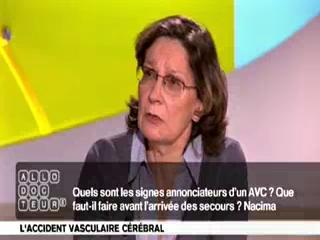 Le Dr France Woimant, neurologue à l'hôpital Lariboisière, explique les signes avant-coureurs de l'AVC