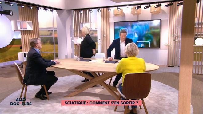 Marina Carrère d'Encausse et Fabien Doguet expliquent les causes de la sciatique