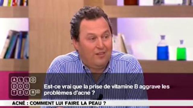 Acné : aggravée par la vitamine B?